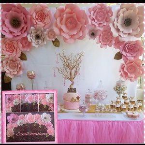 Pinks paper flower DIY kits